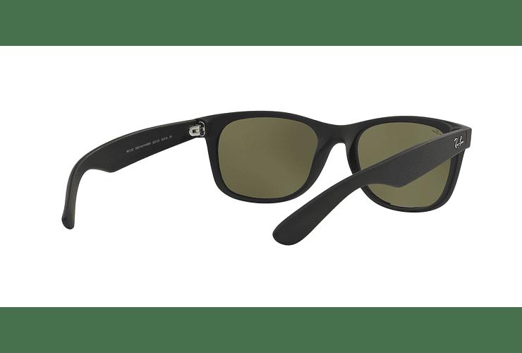 Ray Ban New Wayfarer Rubber Black lente Mirror Silver cod. RB2132 622/30 55 - Image 7