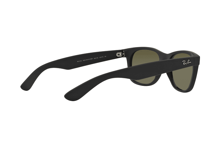 Ray Ban New Wayfarer Rubber Black lente Mirror Silver cod. RB2132 622/30 55 - Image 8