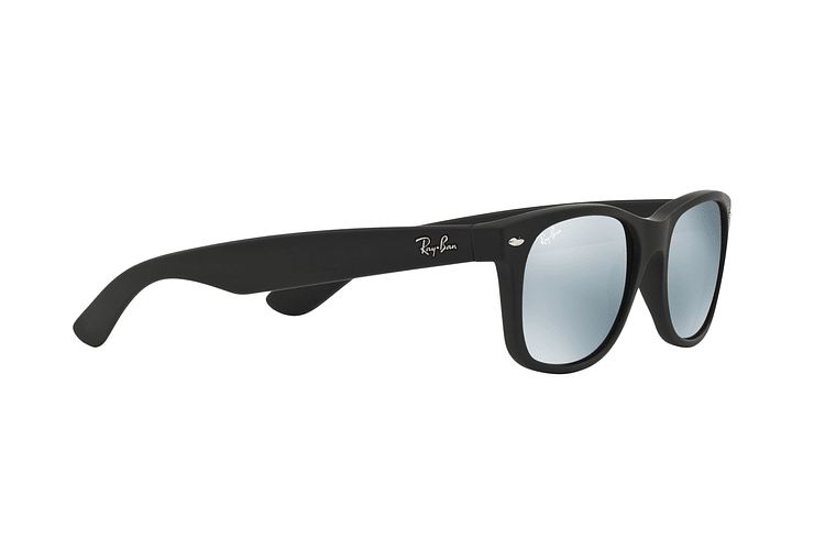 Ray Ban New Wayfarer Rubber Black lente Mirror Silver cod. RB2132 622/30 55 - Image 10