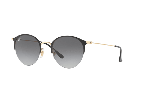 Ray Ban Round RB3578 Gold top shiny black lente Grey Gradient cod. RB3578 187/11 50