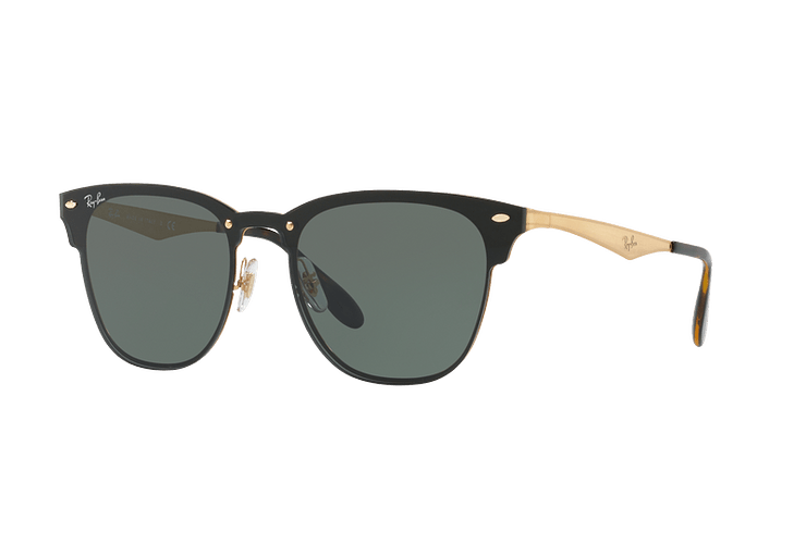 Ray Ban Blaze Clubmaster Brusched Gold lente Dark Green cod. RB3576N 043/71 47 - Image 1