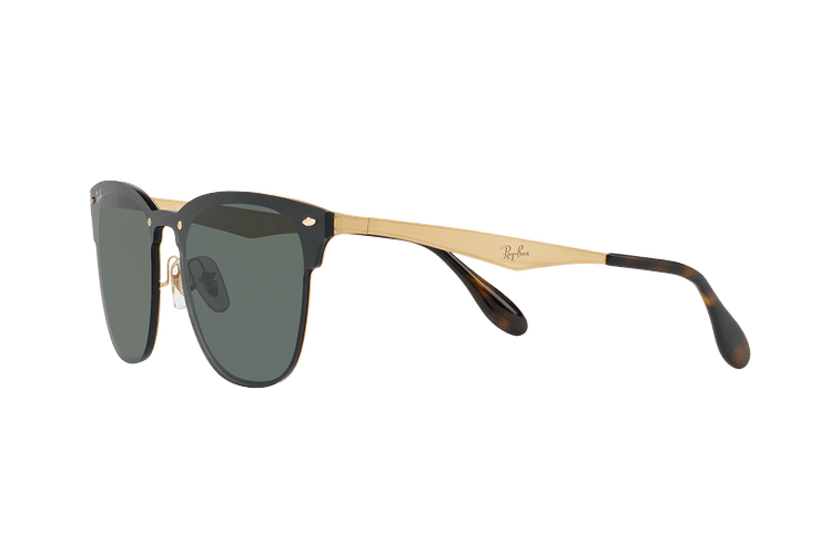 Ray Ban Blaze Clubmaster Brusched Gold lente Dark Green cod. RB3576N 043/71 47 - Image 2