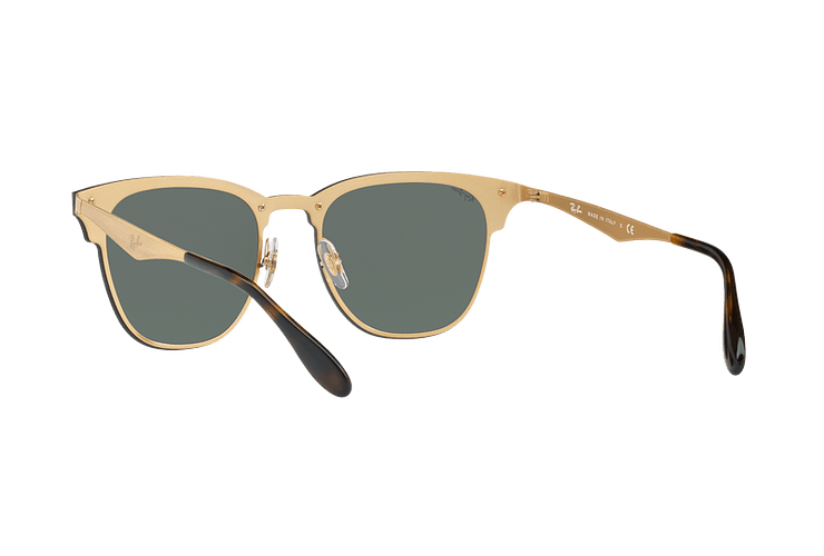 Ray Ban Blaze Clubmaster Brusched Gold lente Dark Green cod. RB3576N 043/71 47 - Image 5