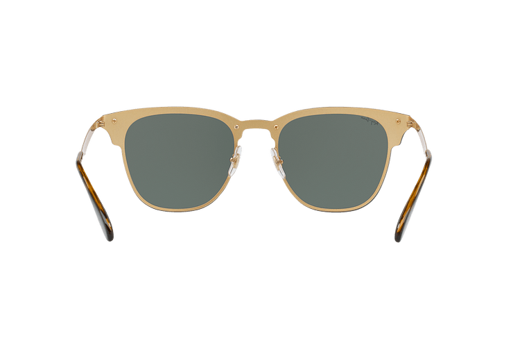 Ray Ban Blaze Clubmaster Brusched Gold lente Dark Green cod. RB3576N 043/71 47 - Image 6
