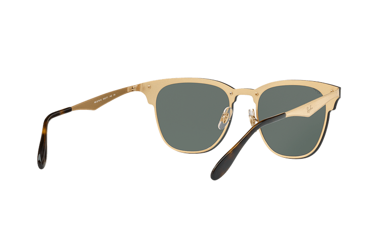 Ray Ban Blaze Clubmaster Brusched Gold lente Dark Green cod. RB3576N 043/71 47 - Image 7