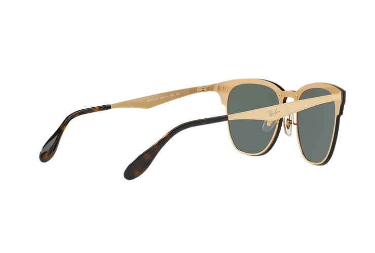 Ray Ban Blaze Clubmaster Brusched Gold lente Dark Green cod. RB3576N 043/71 47 - Image 8
