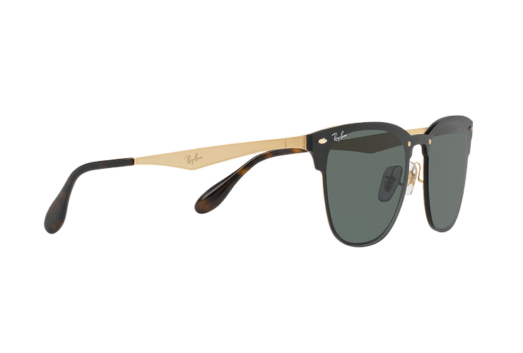 Ray Ban Blaze Clubmaster Brusched Gold lente Dark Green cod. RB3576N 043/71 47 - Image 10
