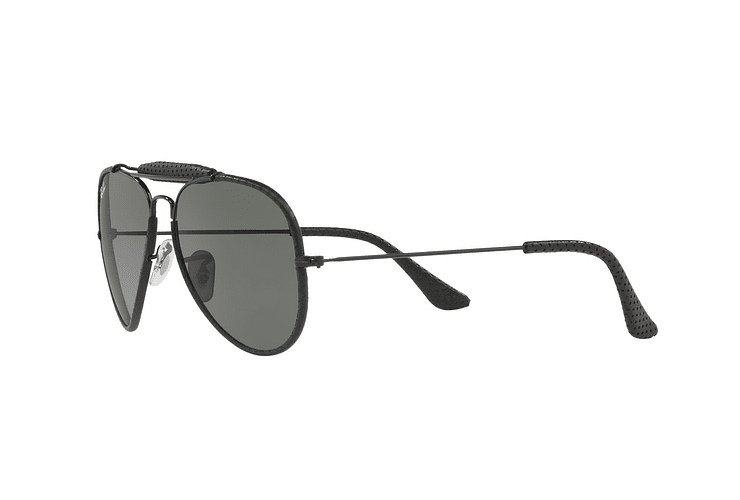 Ray Ban Outdoorsman Craft Leather Black lente Green cod. RB3422Q 9040 58 - Image 2