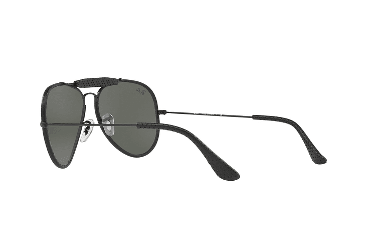 Ray Ban Outdoorsman Craft Leather Black lente Green cod. RB3422Q 9040 58 - Image 4