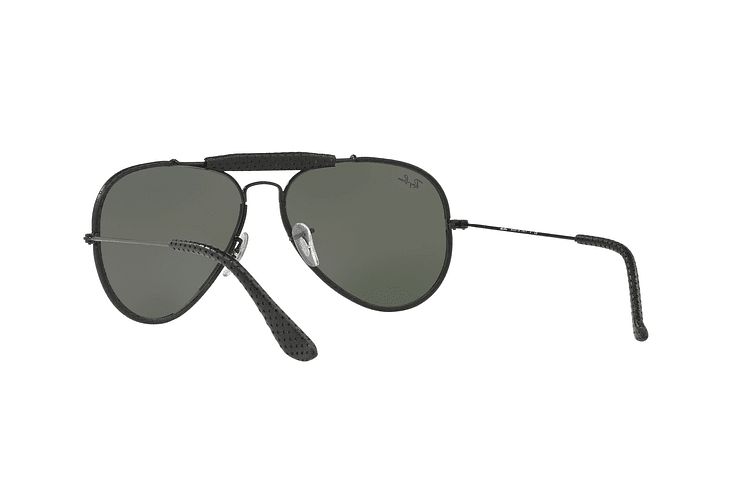 Ray Ban Outdoorsman Craft Leather Black lente Green cod. RB3422Q 9040 58 - Image 5