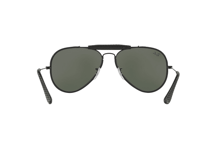 Ray Ban Outdoorsman Craft Leather Black lente Green cod. RB3422Q 9040 58 - Image 6