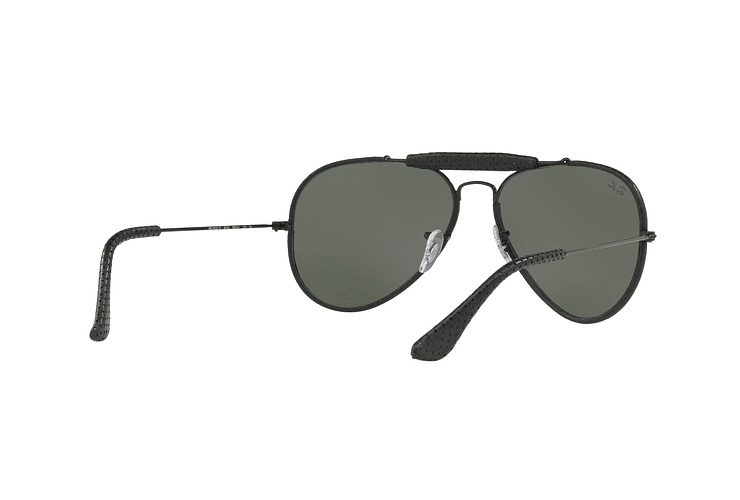 Ray Ban Outdoorsman Craft Leather Black lente Green cod. RB3422Q 9040 58 - Image 7