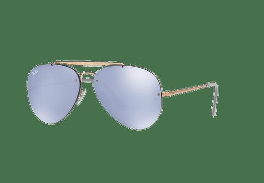 Ray Ban Aviator Blaze Copper lente Blue / Silver Mirror cod. RB3584N 90531U 58