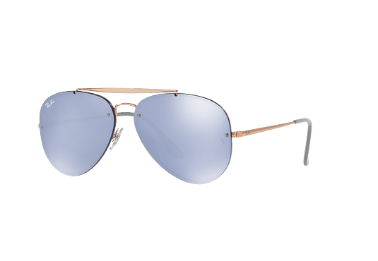 Ray Ban Aviator Blaze Copper lente Blue / Silver Mirror cod. RB3584N 90531U 58