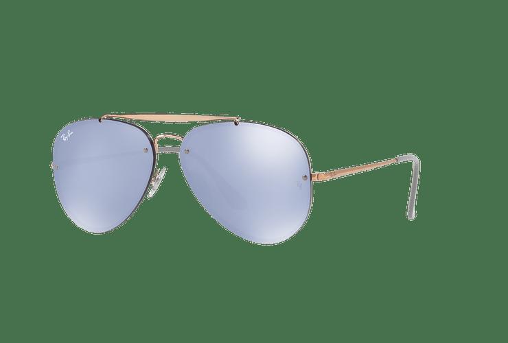 Ray Ban Aviator Blaze Copper lente Blue / Silver Mirror cod. RB3584N 90531U 58 - Image 1
