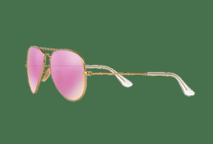 Ray Ban Aviador Matte Gold lente Mirror Fucsia Polarized cod. RB3025 112/1Q 58 - Image 2