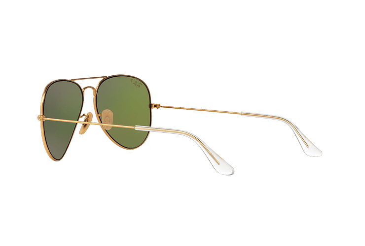 Ray Ban Aviador Matte Gold lente Mirror Fucsia Polarized cod. RB3025 112/1Q 58 - Image 4