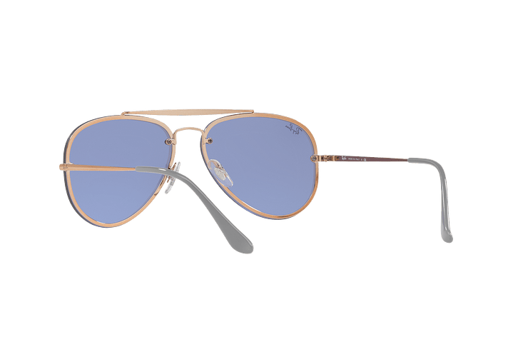Ray Ban Aviator Blaze Copper lente Blue / Silver Mirror cod. RB3584N 90531U 58 - Image 5