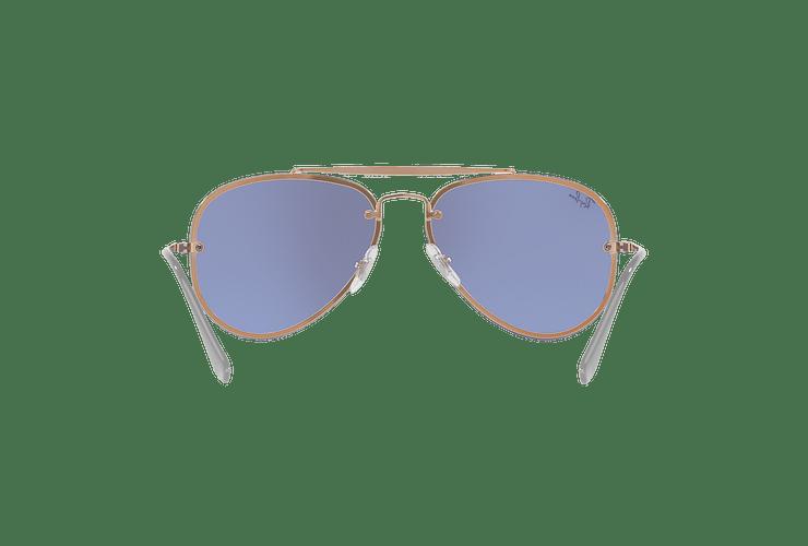 Ray Ban Aviator Blaze Copper lente Blue / Silver Mirror cod. RB3584N 90531U 58 - Image 6