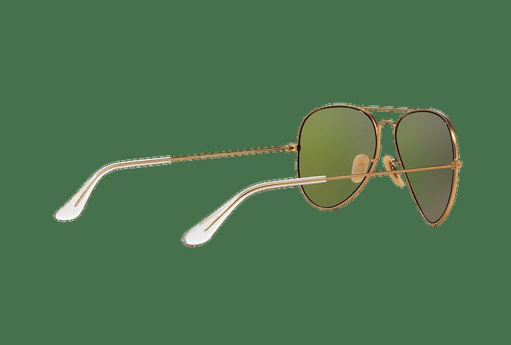 Ray Ban Aviador Matte Gold lente Mirror Fucsia Polarized cod. RB3025 112/1Q 58 - Image 8