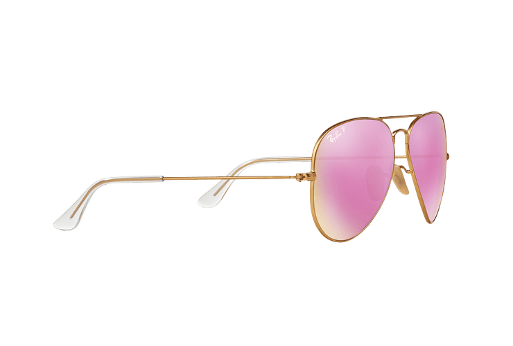 Ray Ban Aviador Matte Gold lente Mirror Fucsia Polarized cod. RB3025 112/1Q 58 - Image 10