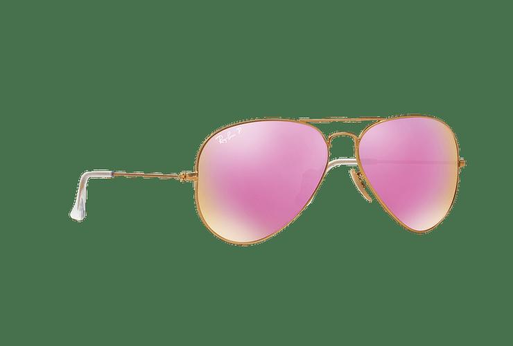 Ray Ban Aviador Matte Gold lente Mirror Fucsia Polarized cod. RB3025 112/1Q 58 - Image 11