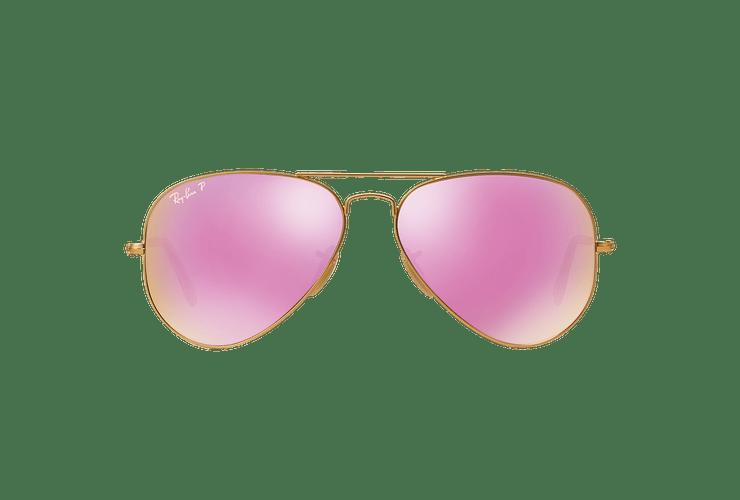 Ray Ban Aviador Matte Gold lente Mirror Fucsia Polarized cod. RB3025 112/1Q 58 - Image 12