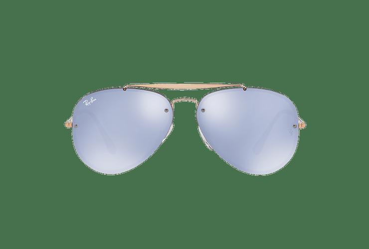 Ray Ban Aviator Blaze Copper lente Blue / Silver Mirror cod. RB3584N 90531U 58 - Image 12