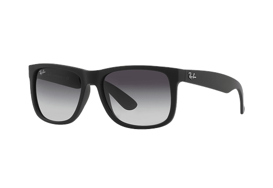 Ray Ban Justin Rubber Black lente Grey Gradient cod. RB4165 601/8G 54