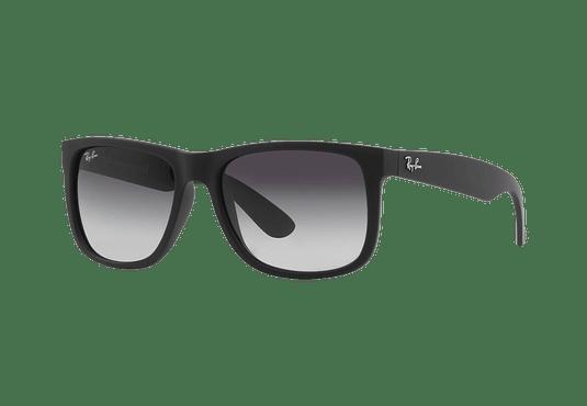 Ray Ban Justin Rubber Black lente Grey Gradient cod. RB4165 601/8G 54