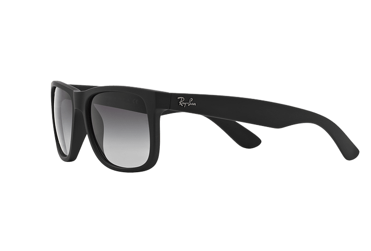 Ray Ban Justin Rubber Black lente Grey Gradient cod. RB4165 601/8G 54 - Image 2