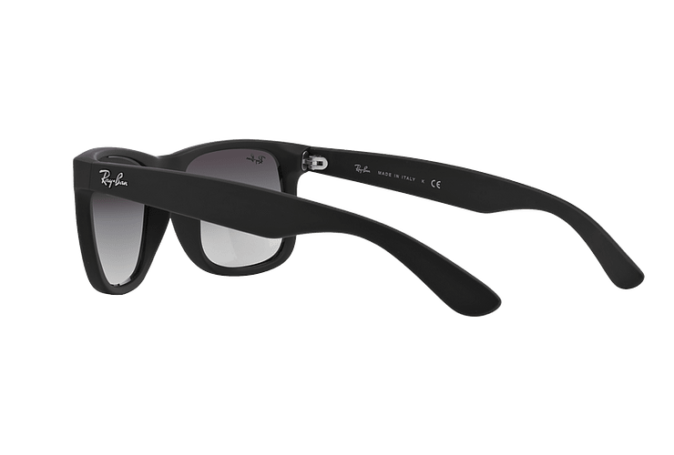 Ray Ban Justin Rubber Black lente Grey Gradient cod. RB4165 601/8G 54 - Image 4