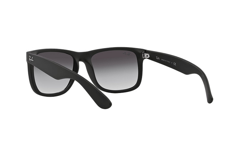 Ray Ban Justin Rubber Black lente Grey Gradient cod. RB4165 601/8G 54 - Image 5