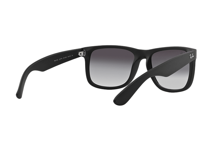 Ray Ban Justin Rubber Black lente Grey Gradient cod. RB4165 601/8G 54 - Image 7