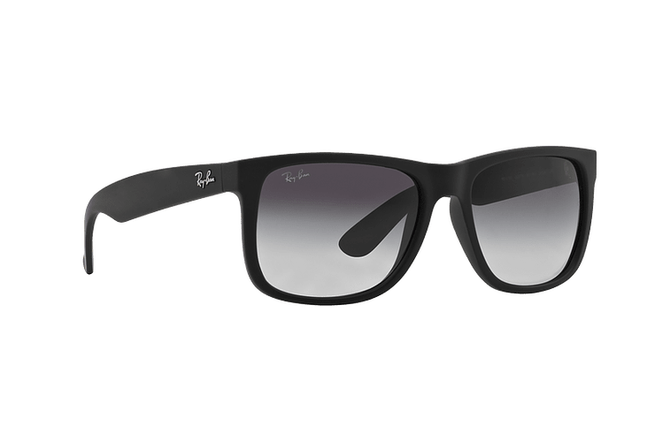 Ray Ban Justin Rubber Black lente Grey Gradient cod. RB4165 601/8G 54 - Image 11