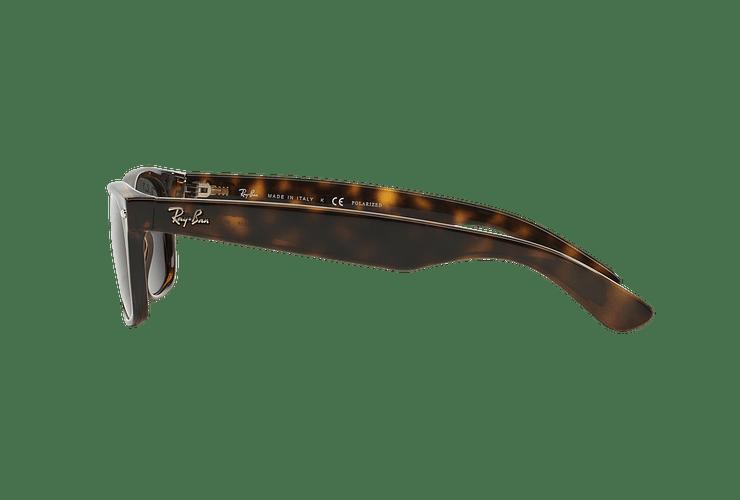 Ray Ban New Wayfarer Tortoise lente Crystal Green Polarized cod. RB2132 902/58 58 - Image 3