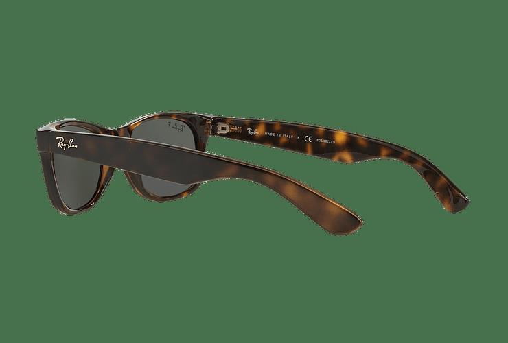 Ray Ban New Wayfarer Tortoise lente Crystal Green Polarized cod. RB2132 902/58 58 - Image 4
