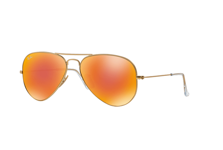 Ray Ban Aviador Matte Gold lente Crystal Mirror Orange cod. RB3025 112/69 58 - Image 1