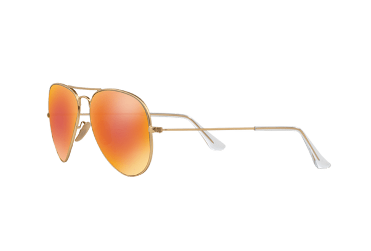 Ray Ban Aviador Matte Gold lente Crystal Mirror Orange cod. RB3025 112/69 58 - Image 2