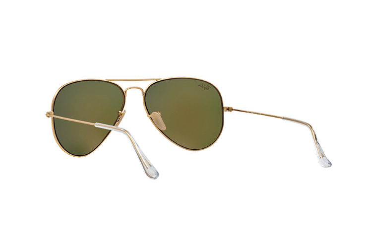 Ray Ban Aviador Matte Gold lente Crystal Mirror Orange cod. RB3025 112/69 58 - Image 5