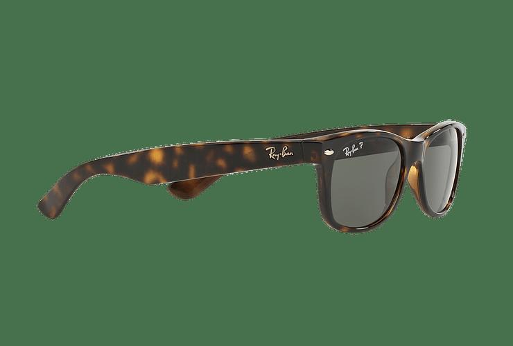 Ray Ban New Wayfarer Tortoise lente Crystal Green Polarized cod. RB2132 902/58 58 - Image 10