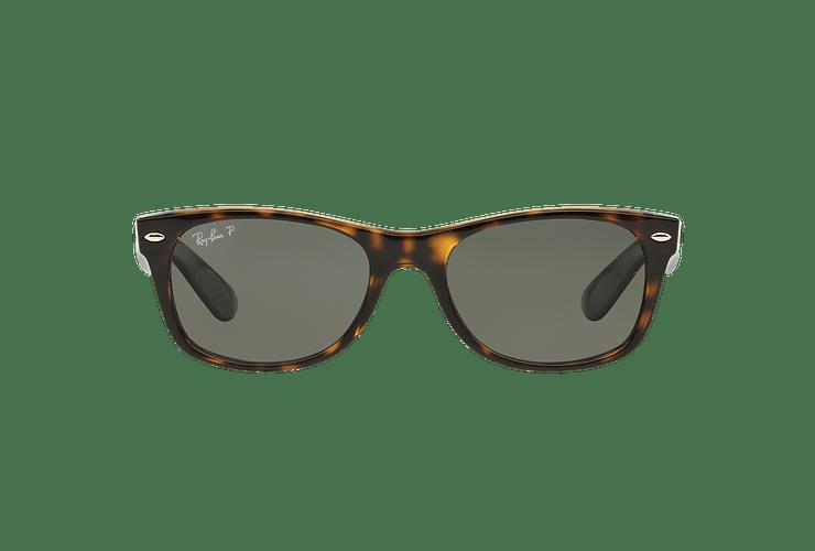 Ray Ban New Wayfarer Tortoise lente Crystal Green Polarized cod. RB2132 902/58 58 - Image 12