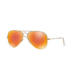Ray Ban Aviador Matte Gold lente Crystal Mirror Orange cod. RB3025 112/69 55