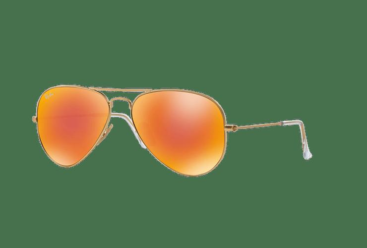 Ray-Ban Aviador Matte Gold lente Crystal Mirror Orange cod. RB3025 112/69 55 - Image 1