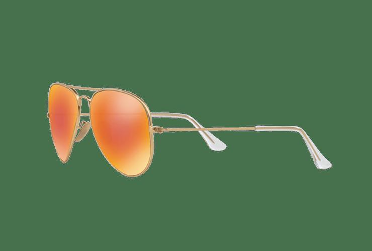 Ray-Ban Aviador Matte Gold lente Crystal Mirror Orange cod. RB3025 112/69 55 - Image 2