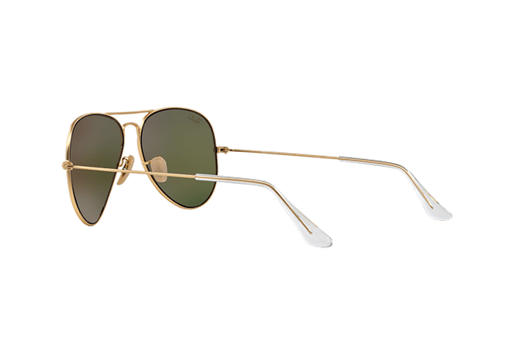 Ray-Ban Aviador Matte Gold lente Crystal Mirror Orange cod. RB3025 112/69 55 - Image 4