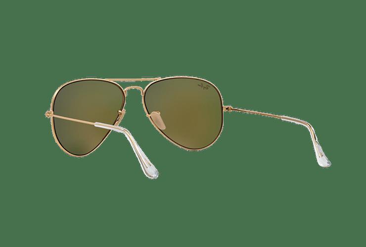 Ray-Ban Aviador Matte Gold lente Crystal Mirror Orange cod. RB3025 112/69 55 - Image 5