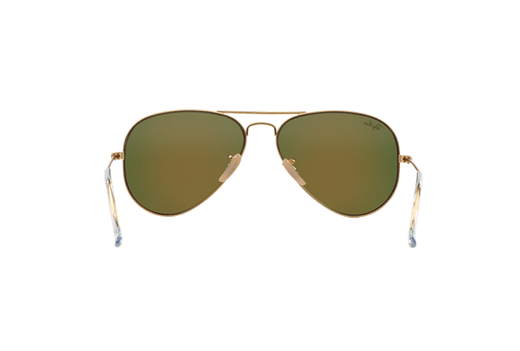 Ray-Ban Aviador Matte Gold lente Crystal Mirror Orange cod. RB3025 112/69 55 - Image 6