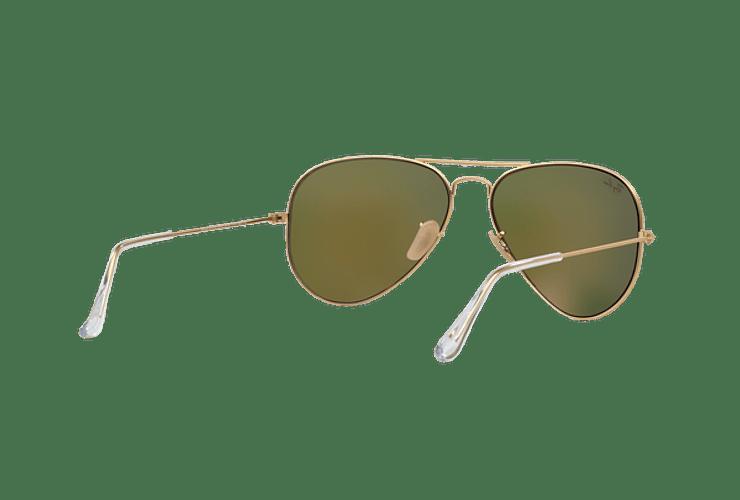 Ray-Ban Aviador Matte Gold lente Crystal Mirror Orange cod. RB3025 112/69 55 - Image 7