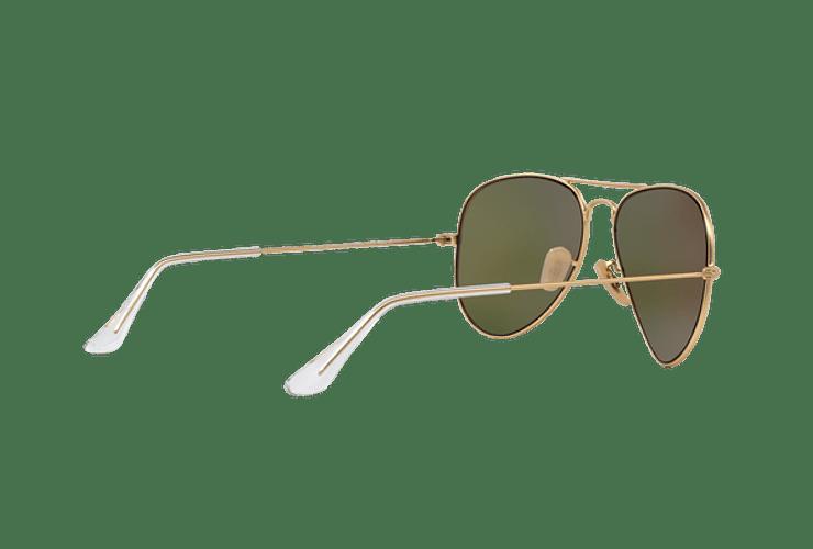 Ray-Ban Aviador Matte Gold lente Crystal Mirror Orange cod. RB3025 112/69 55 - Image 8